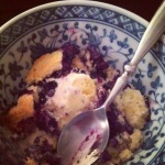 Michael's Blueberry Cobbler - Best served with a scoop of Blue Bell Vanilla ice cream!