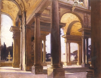 Americans in Florence_John Singer Sargent - Study of Architecture- pg153