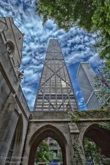 Chicago-John-Hancock-Tower-from-Fourth-Presbyterian-Church