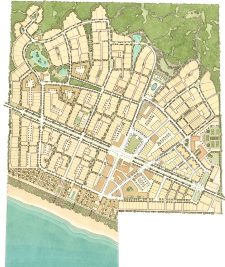 Masterplan of Alys Beach as updated in 2009