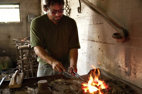 Image 15_ Craftsman at work at Herrera Ornamental iron work