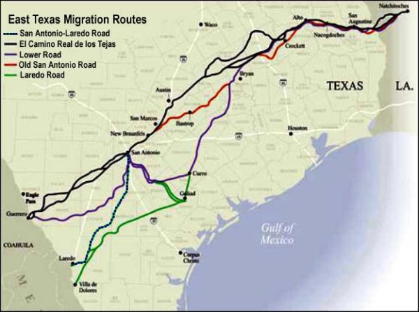 East Texas Migration Routes