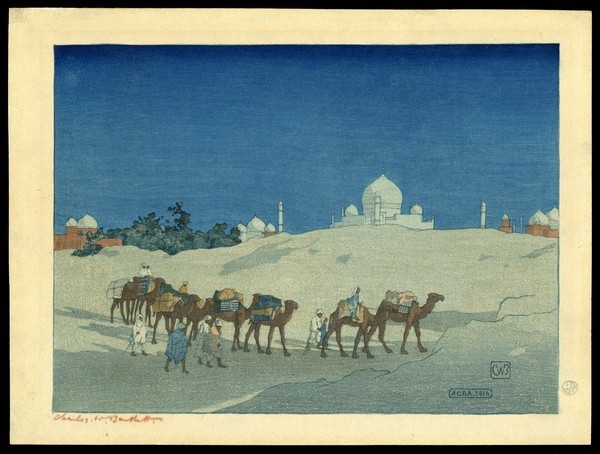 Image 9_agra caravan at night by Charles Bartlett_l