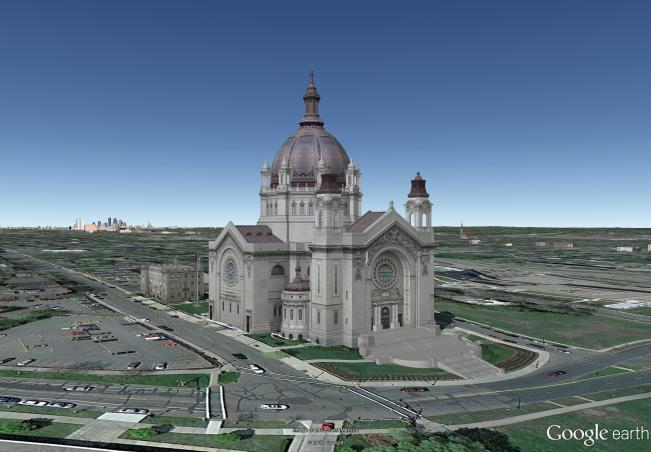 Cathedral of Saint Paul Google Earth model