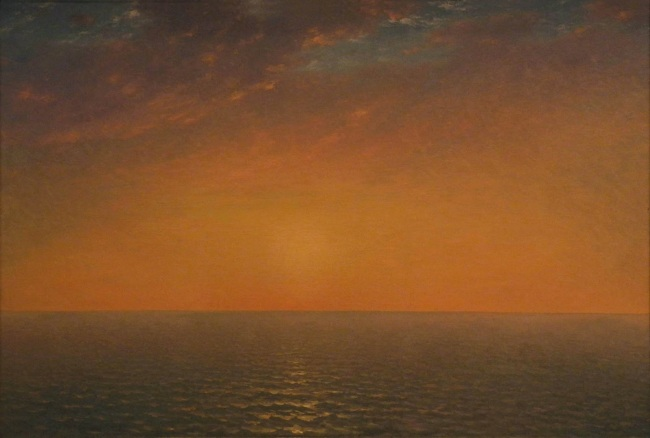1 kensett, sunset on the sea