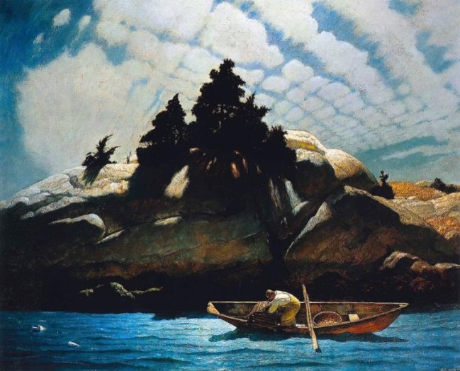 N.C. Wyeth, Black Spruce Ledge, 1941