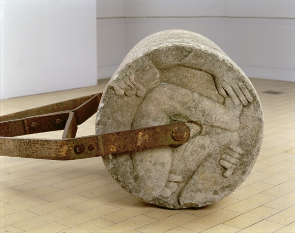 LMG139528 `Adam and Eve' Garden Roller, 1933 (portland stone and iron) by Gill, Eric (1882-1940); 71x49 cm; Leeds Museums and Galleries (City Art Gallery) U.K.; English, in copyright until 2011