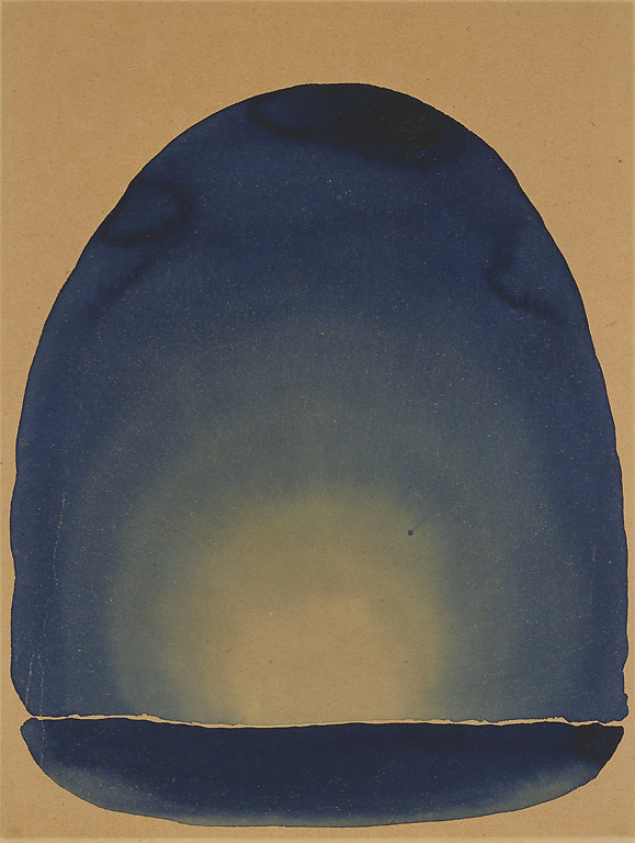 Georgia O'Keeffe Light Coming on the Plains II 1917, watercolor on paper Amon Carter Museum, Fort Worth, Texas 1966.32