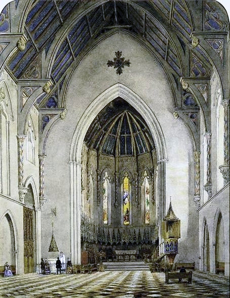 Image 17_Chancel of Trinity Chapel by John William Hill, watercolor, 1856