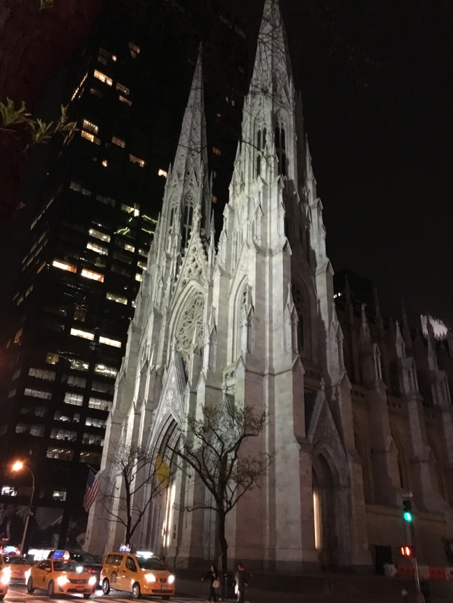 Image 1_St. Patrick's Cathedral at night