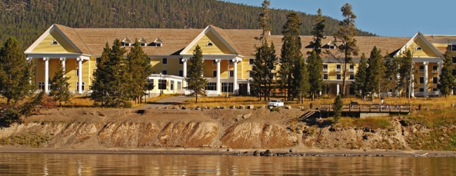 Yellowstone Lake Hotel exterior.