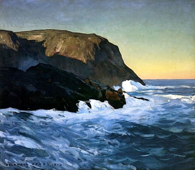Headlands and Sea Rockwell Kent 1910