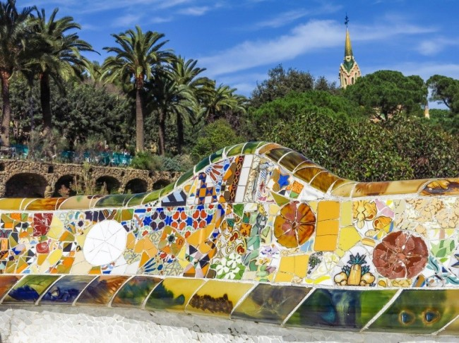 Guell Park in Barcellona Spain