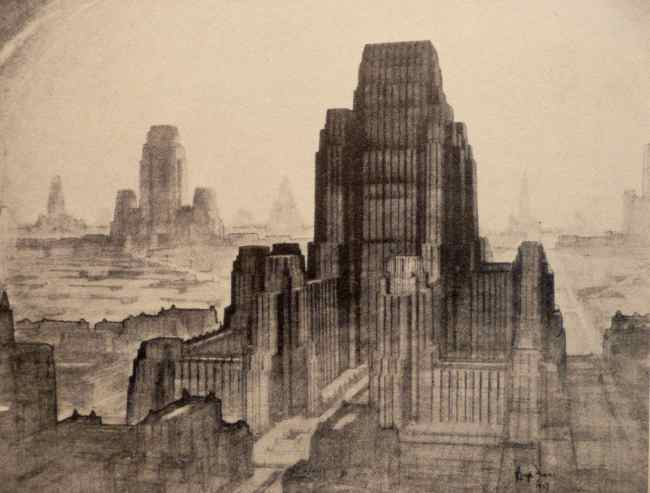 hugh-ferris-metropolis-of-tomorrow-the-business-centre-1929
