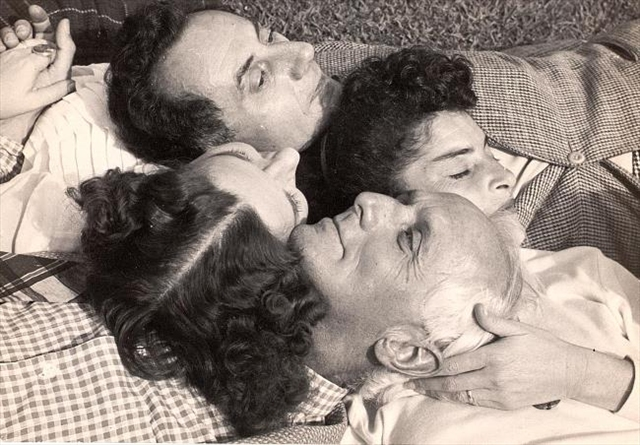 man ray, juliet browner, max ernst & dorothea tanning 1946