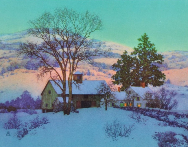 162542195_maxfield-parrish-afterglow-vintage-print-winter-snowy