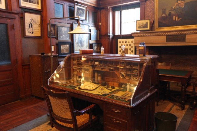 Edison's desk is preserved just as it was worked in his office at what is now Edison National Historical Park, West Orange, NJ, Aug. 28, 2015(Dispatch photo by Steve Stephens)