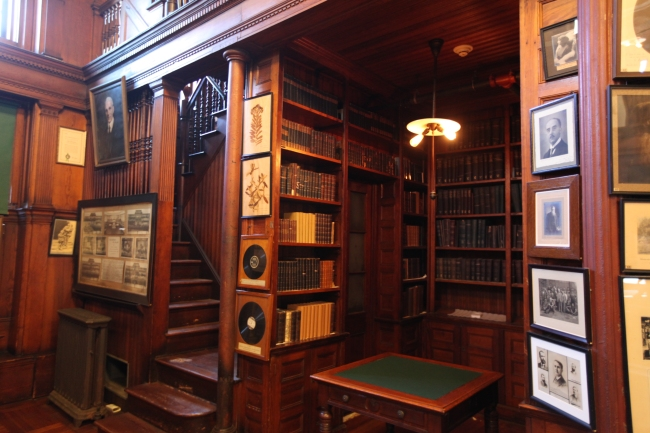 Visitors can see Edison's vast library at Edison National Historical Park, West Orange, NJ, Aug. 28, 2015(Dispatch photo by Steve Stephens)