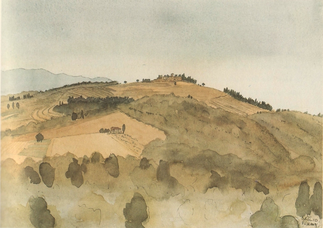 view-of-cacchiano-from-bolio-tuscany-1987
